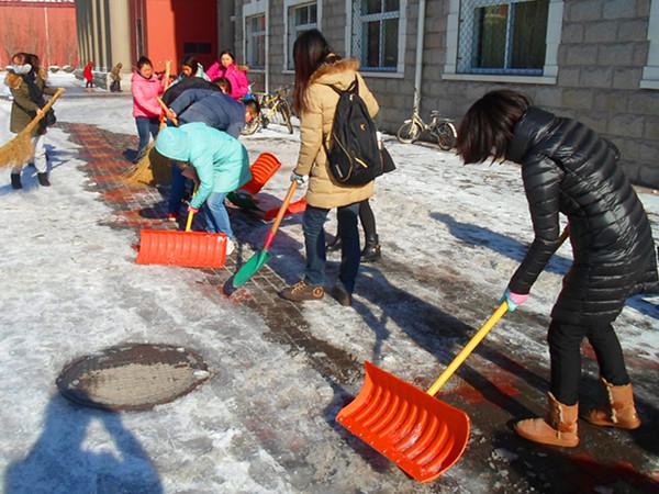 党支部成员义务扫雪活动 -天津外国语大学滨海外事学院图片